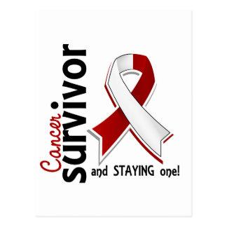 Superviviente 19 del cáncer de cabeza y cuello postal
