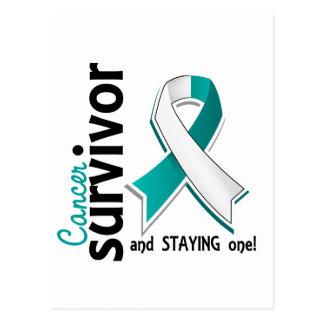 Superviviente 19 del cáncer de cuello del útero tarjetas postales
