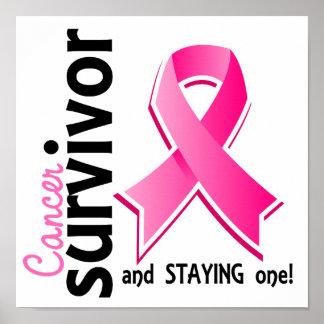 Superviviente 19 del cáncer de pecho posters