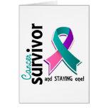 Superviviente 19 del cáncer de tiroides tarjetas