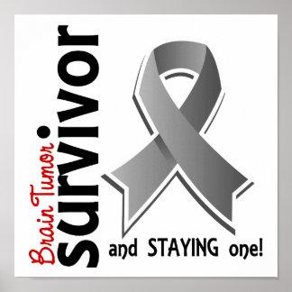Superviviente 19 del tumor cerebral póster