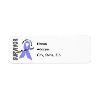 Superviviente 1 del cáncer de estómago etiqueta de remitente