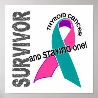 Superviviente 1 del cáncer de tiroides posters