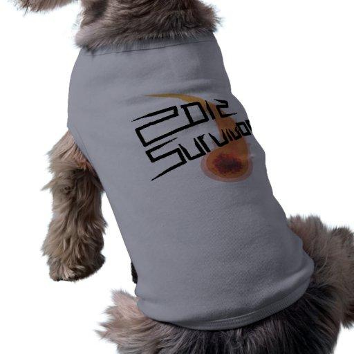 Superviviente 2012 camisa de mascota