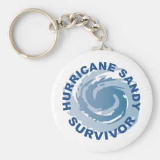 Superviviente 2012 de Sandy del huracán Llavero Redondo Tipo Pin