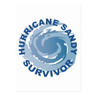 Superviviente 2012 de Sandy del huracán Postal