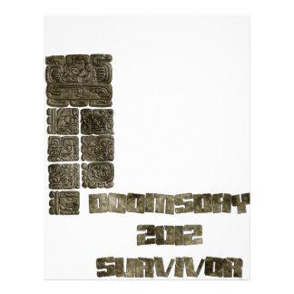 Superviviente 2012 del día del juicio final membrete personalizado