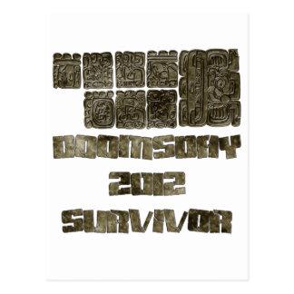 Superviviente 2012 del día del juicio final postales