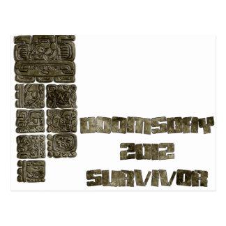 Superviviente 2012 del día del juicio final tarjetas postales