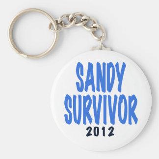 SUPERVIVIENTE 2012, lt de SANDY. azul, regalo del  Llavero Redondo Tipo Pin