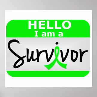 Superviviente 24.png de la enfermedad de Lyme Poster