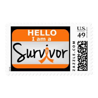 Superviviente 24.png de la leucemia sello