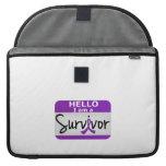 Superviviente 24.png de Leiomyosarcoma Fundas Para Macbook Pro