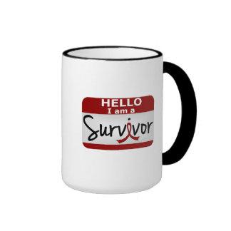 Superviviente 24.png del Aneurysm del cerebro Taza De Dos Colores