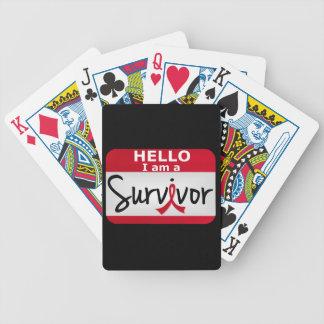 Superviviente 24 png del ataque del corazón barajas de cartas