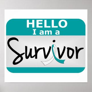 Superviviente 24.png del cáncer de cuello del úter poster