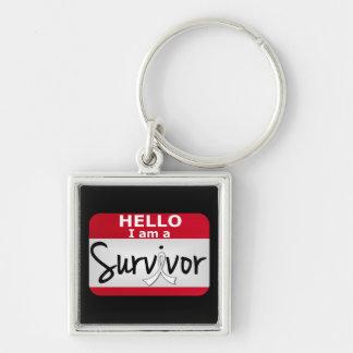 Superviviente 24 png del cáncer de hueso llaveros personalizados
