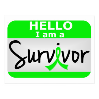 Superviviente 24.png del linfoma tarjetas postales