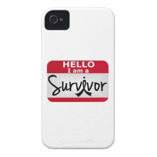 Superviviente 24.png del melanoma Case-Mate iPhone 4 fundas
