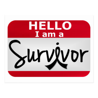 Superviviente 24.png del melanoma tarjeta postal