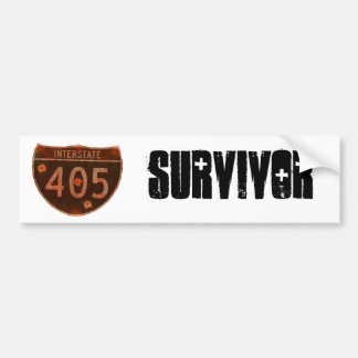Superviviente 405 pegatina de parachoque