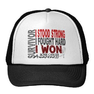 Superviviente 4 del cáncer de hueso gorras