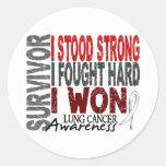 Superviviente 4 del cáncer de pulmón etiquetas redondas