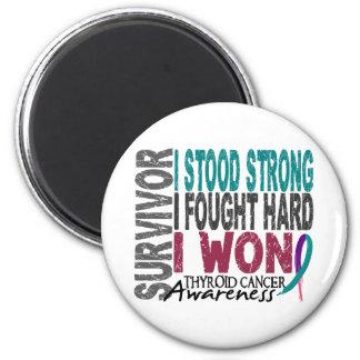 Superviviente 4 del cáncer de tiroides imán redondo 5 cm