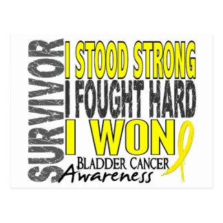 Superviviente 4 del cáncer de vejiga tarjetas postales