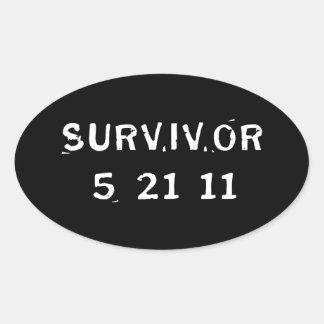 Superviviente 5-21-11 calcomanía óval