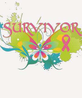 Superviviente abstracto del cáncer de pecho de la camiseta