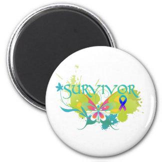 Superviviente abstracto del cáncer de tiroides de  imán redondo 5 cm