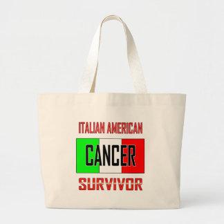 Superviviente americano italiano del cáncer bolsa lienzo