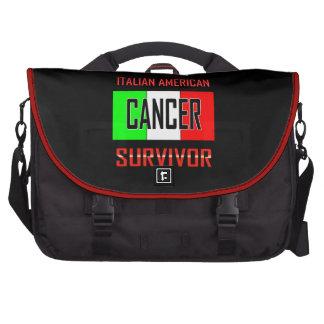 Superviviente americano italiano del cáncer bolsa de ordenador