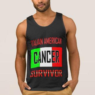 Superviviente americano italiano del cáncer top sin mangas