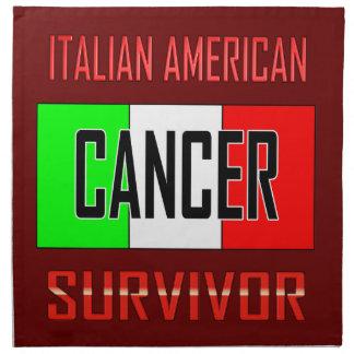 Superviviente americano italiano del cáncer servilletas imprimidas