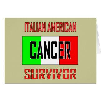 Superviviente americano italiano del cáncer felicitación