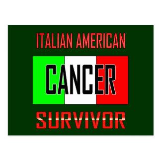 Superviviente americano italiano del cáncer postal