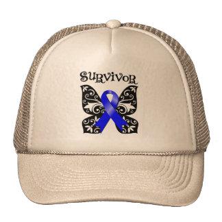 Superviviente anal de la mariposa del cáncer gorros bordados