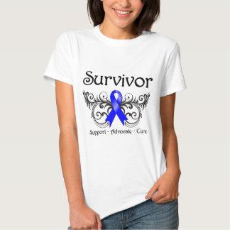 Superviviente anal Deco floral del cáncer Remeras