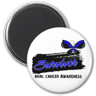Superviviente anal del cáncer de la mariposa del t imán redondo 5 cm
