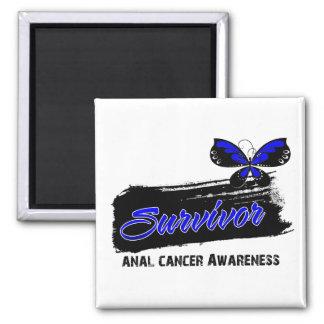 Superviviente anal del cáncer de la mariposa del t imán cuadrado