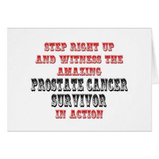 Superviviente asombroso del cáncer de próstata en  tarjeta de felicitación
