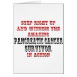 Superviviente asombroso del cáncer pancreático en  tarjeta