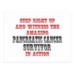 Superviviente asombroso del cáncer pancreático en  postal