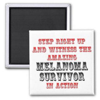 Superviviente asombroso del melanoma en la acción iman para frigorífico