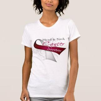 Superviviente - cáncer de cabeza y cuello camisetas