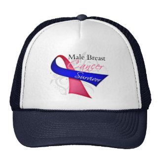 Superviviente - cáncer de pecho masculino gorras