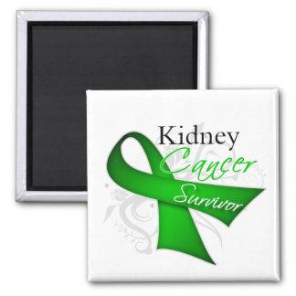 Superviviente - cáncer del riñón imán cuadrado