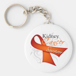 Superviviente - cáncer del riñón llavero redondo tipo pin